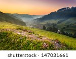 stony hill among green lawn... | Shutterstock . vector #147031661