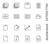 ui elements line icons set....