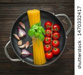 top view ingredients for... | Shutterstock . vector #1470332417
