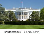 white house on deep blue sky... | Shutterstock . vector #147037244