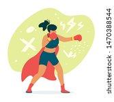Female Boxer  Fighter In Cape...
