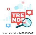 internet trends flat vector web ... | Shutterstock .eps vector #1470388547