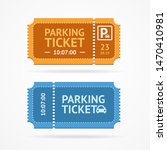 color whole parking ticket icon ... | Shutterstock .eps vector #1470410981
