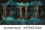 fairytale forest background.... | Shutterstock .eps vector #1470427664