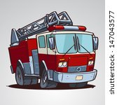 cartoon fire truck isolated | Shutterstock .eps vector #147043577