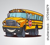 cartoon school bus character... | Shutterstock .eps vector #147044879