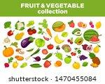 fruits  vegetables and berries... | Shutterstock . vector #1470455084