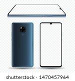 blue smartphone mockup easy... | Shutterstock .eps vector #1470457964