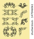 curl ornament decoration vector.... | Shutterstock .eps vector #147046061