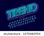 vector of stylized modern font... | Shutterstock .eps vector #1470482954