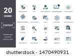 content icon set. contain... | Shutterstock .eps vector #1470490931