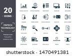 fintech technology icon set.... | Shutterstock .eps vector #1470491381