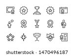 simple set of awards vector... | Shutterstock .eps vector #1470496187