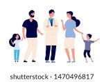 family doctor. big healthy... | Shutterstock .eps vector #1470496817