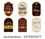 wine vintage labels. alcohol...   Shutterstock .eps vector #1470507677
