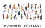 crowd of tiny people dressed in ... | Shutterstock . vector #1470512387