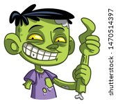 funny little zombie. vector...   Shutterstock .eps vector #1470514397