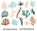 vector set of corals. bright... | Shutterstock .eps vector #1470535214
