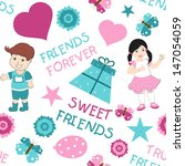 friendship day seamless... | Shutterstock .eps vector #147054059