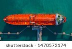 Aerial View Tanker Ship Vessel...