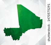 map of mali   green geometric... | Shutterstock .eps vector #1470575291