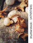 White Mushrooms And Dried...