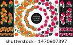 doodle floral elements. two...   Shutterstock .eps vector #1470607397
