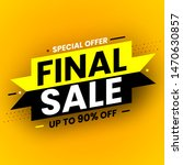 black and yellow final sale...   Shutterstock .eps vector #1470630857