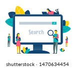 search theme. people browsing... | Shutterstock .eps vector #1470634454
