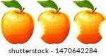 bitten apple on a white... | Shutterstock .eps vector #1470642284