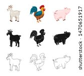isolated object of breeding and ... | Shutterstock .eps vector #1470651917