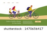 web page template with young... | Shutterstock .eps vector #1470656417