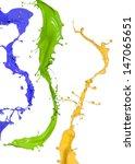 colorful paint splashing on... | Shutterstock . vector #147065651