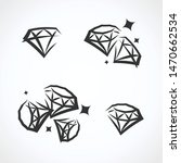 diamond collection set.... | Shutterstock .eps vector #1470662534