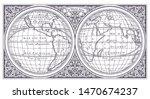 vector old globe  map of world...   Shutterstock .eps vector #1470674237