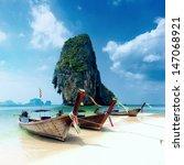 tropical island landscape... | Shutterstock . vector #147068921