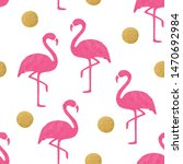 pink flamingo pattern with...   Shutterstock .eps vector #1470692984