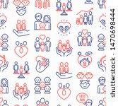 child adoption seamless pattern ... | Shutterstock .eps vector #1470698444