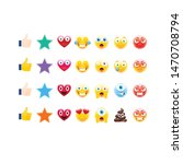 abstract funny style emoji... | Shutterstock .eps vector #1470708794