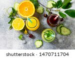 various refreshments drinks  ... | Shutterstock . vector #1470711704