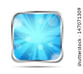 blue glossy icon with rays on a ... | Shutterstock . vector #147071309