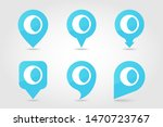 young moon outline pin map icon.... | Shutterstock .eps vector #1470723767
