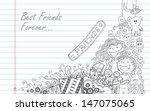 illustration of friendship day... | Shutterstock .eps vector #147075065