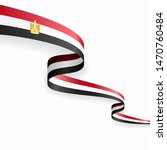 egyptian flag wavy abstract... | Shutterstock . vector #1470760484
