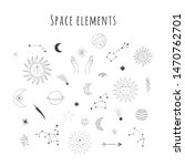 Set Of Hand Drawn Space Design...