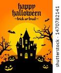 halloween silhouette background ... | Shutterstock .eps vector #1470782141