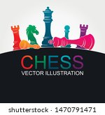 chess colorful figures pieces... | Shutterstock .eps vector #1470791471