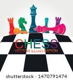 chess colorful figures pieces... | Shutterstock .eps vector #1470791474