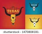 texas longhorn logo design... | Shutterstock .eps vector #1470808181