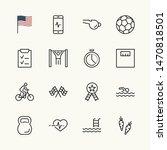 set of fitness vector line... | Shutterstock .eps vector #1470818501